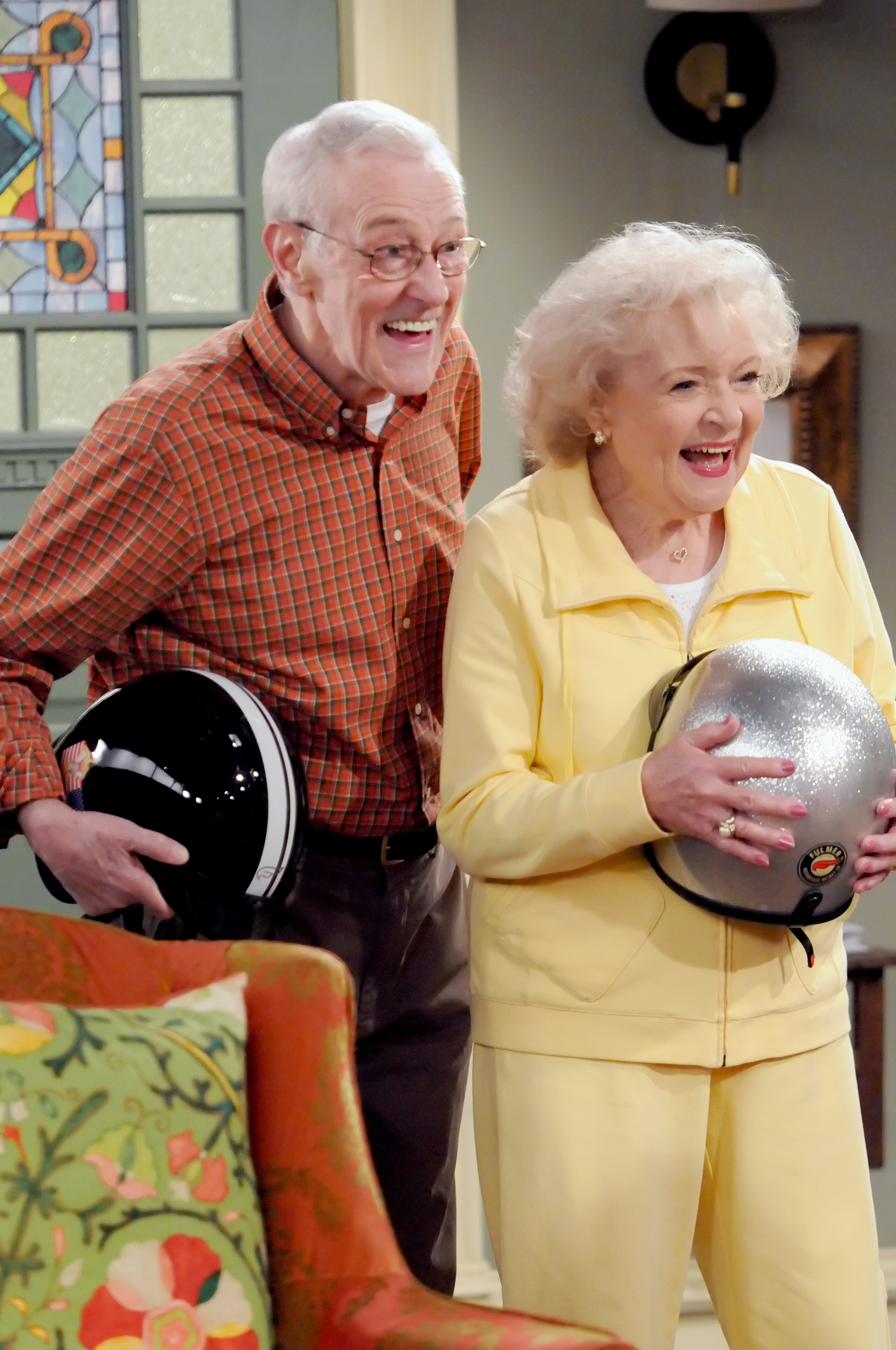 John Mahoney and Betty White
